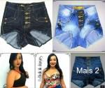 Short Jeans Hot Pant 3d R$18 Atacado em Fortaleza