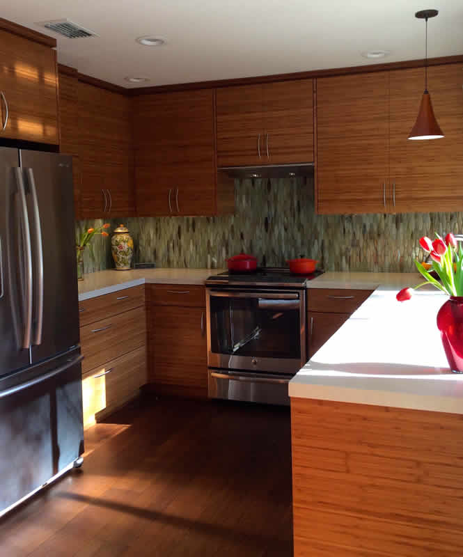 bamboo kitchen cabinets wall mount faucet cabinet doors and drawers feist