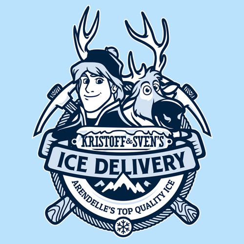 Sven and Kristoffs Ice Company TShirt  Frozen Sven and