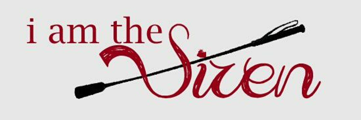 "Banner image saying ""The Siren"" in red with a riding crop diagonally intersecting the words"