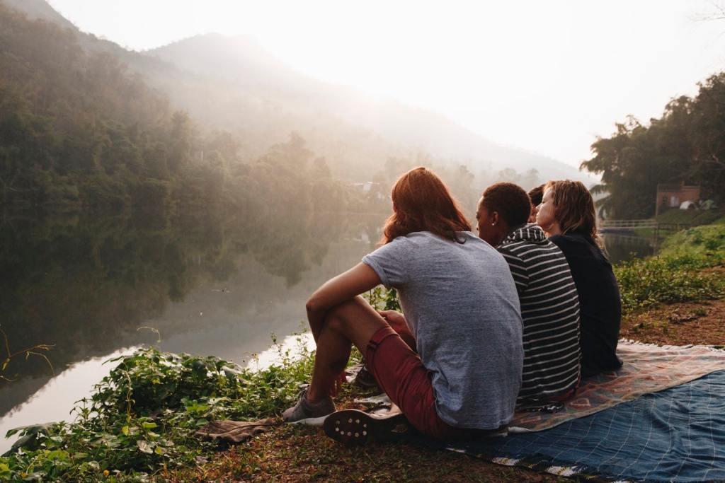 Friends outside