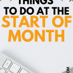 beginning of the month