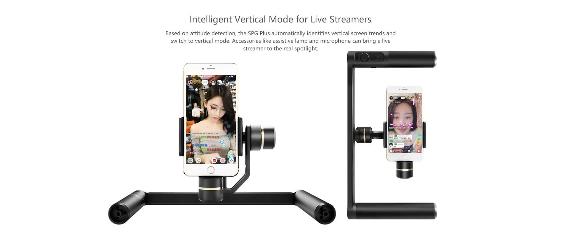 Feiyu Tech Spg Plus 3 Axis Dual Handle Gimbal For Smartphones