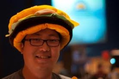 ben with cheez on his head
