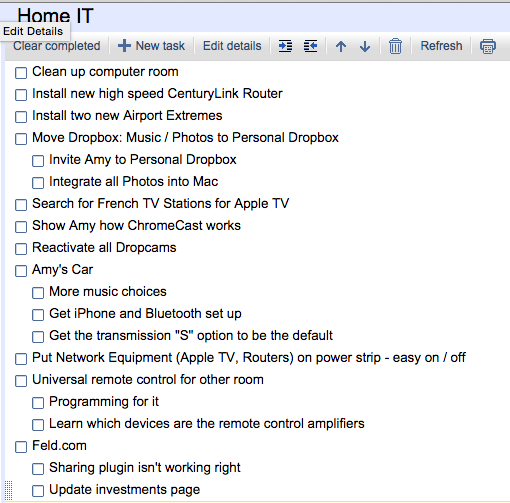 1/1/15 Home IT Support List