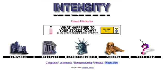 Intensity Ventures website