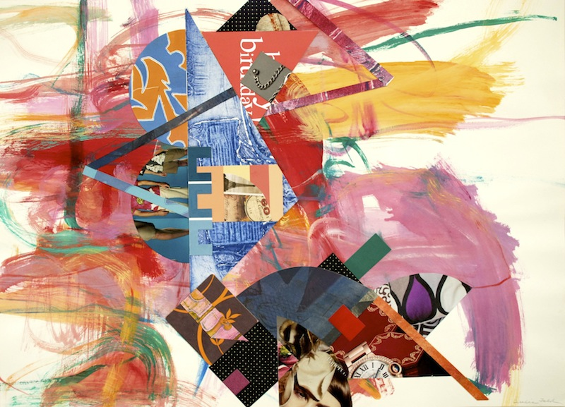 #1260 Springtime Suite 2, acrylic painting on paper with collage, 22x30_, 2012