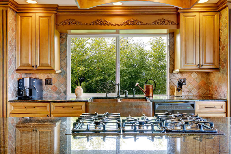 open kitchen sink aid knives windows what style is best a window above