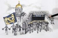 Notre Dame Stadium Wall Art | Football Gifts | Feldfire.com