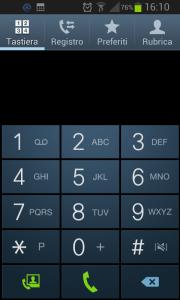 Funzione telefono per inserire il codice accesso alla soluzione spazio insufficiente