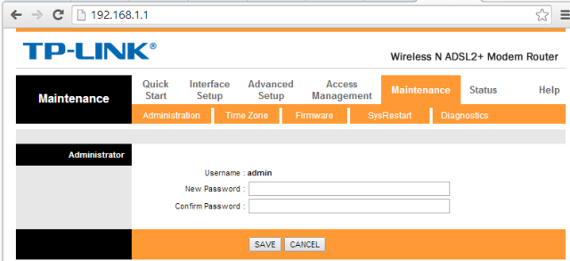 Cambio Password amministratore router Tp-Link