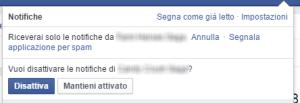 Come eliminare le notifiche facebook