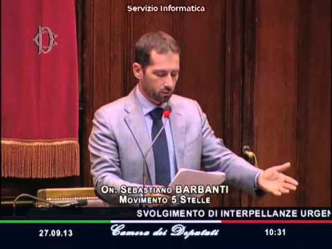 27/9/2013 Sebastiano Barbanti (M5S) sulle pensioni d'oro