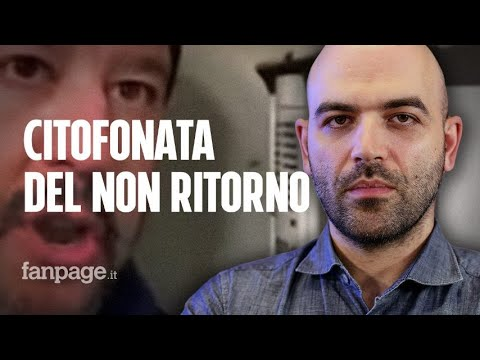 """Roberto Saviano: """"La citofonata di Salvini è un attacco alla democrazia, niente sarà più come prima"""""""