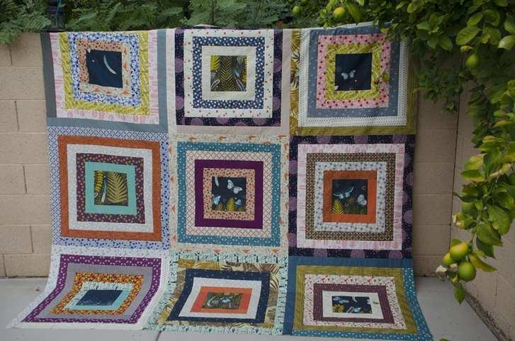 Grunge quilt flat