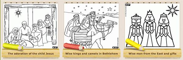 Dibujos reyes colorear online
