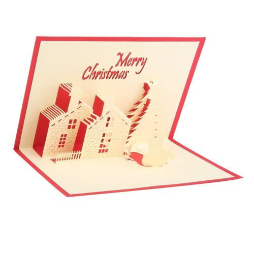 Tarjeta navideña original hecha a mano