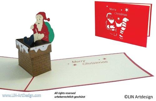 tarjetas navideñas originales papa noel