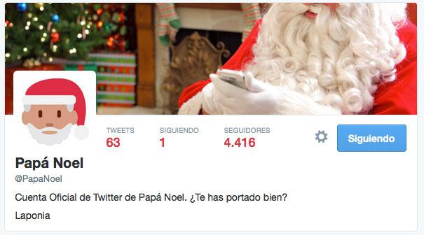 Cuenta de Twitter de PaPa Noel