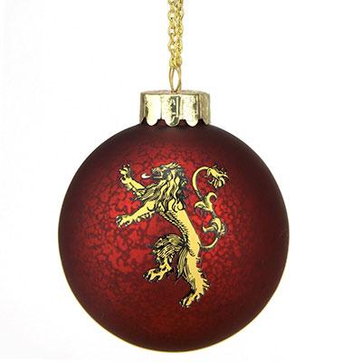Bola de navidad juego de tronos de la casa Lanister