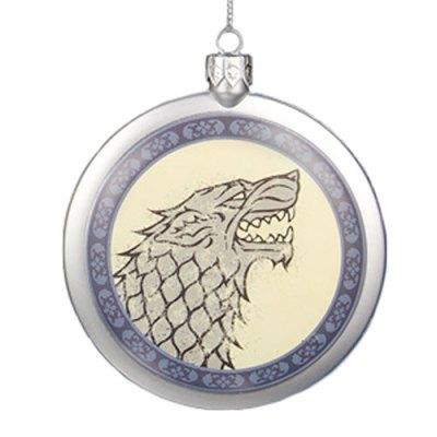 Bola de navidad de juego de tronos de la Casa Stark