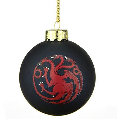 Bola de navidad juego de tronos casa Targaryen