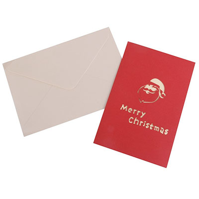 Tarjeta de navidad de Santa Claus