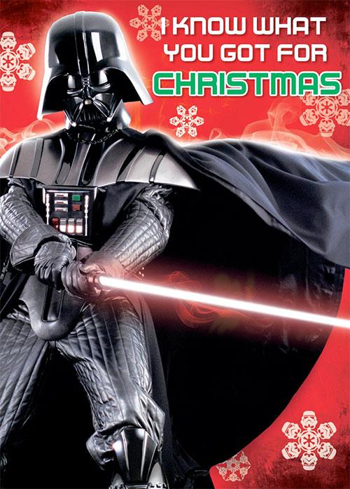 Tarjetas de navidad de star wars