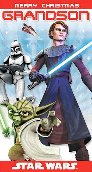 Postal navideña de Star Wars