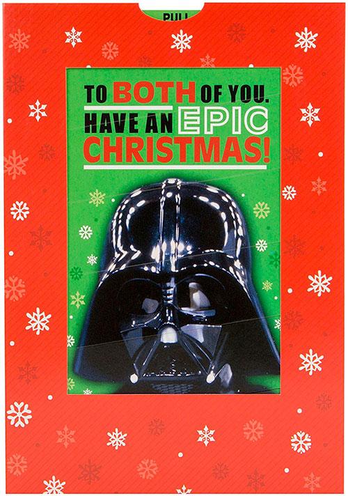 Tarjeta de navidad Darth Vader