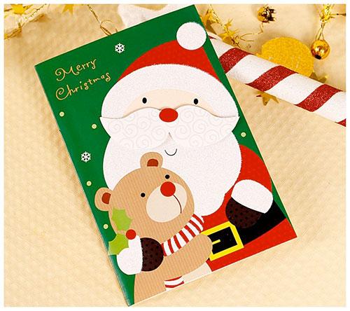 Pack de postales navideñas de papa noel