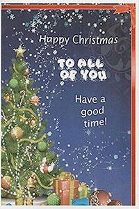 Felicitación de navidad para grupo