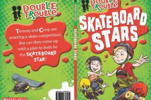 Double Trouble Skateboard Stars