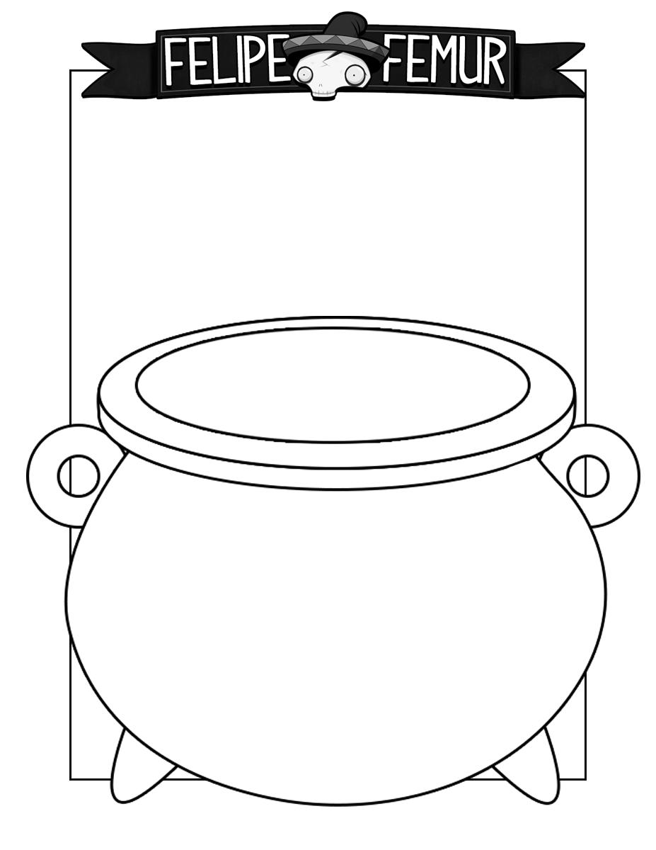 Cauldron Coloring Sheet ⋆ Felipe Femur
