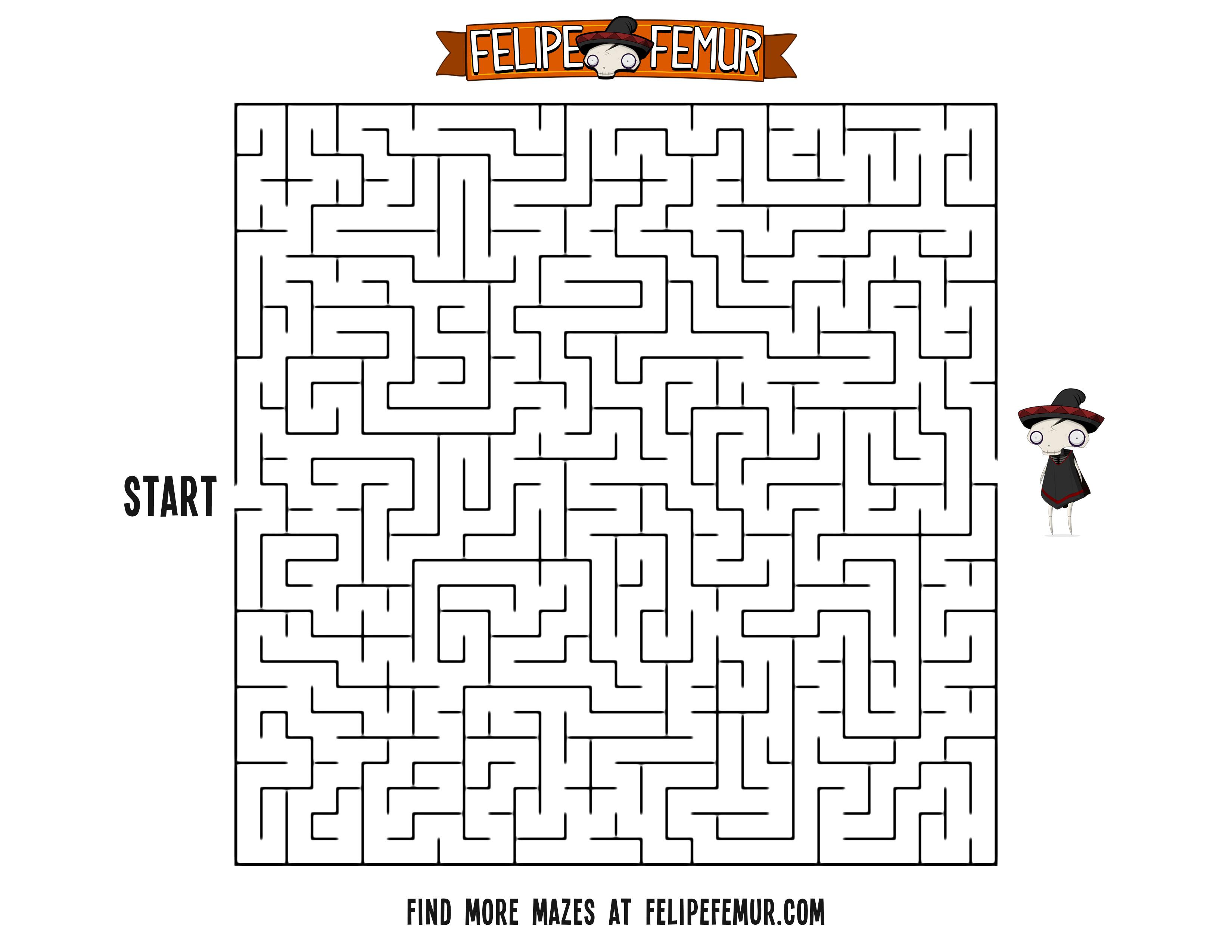 Free Maze Printout For Kids Square Maze 2 Felipe Femur
