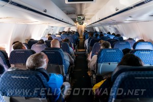 American Airlines 757 cabin