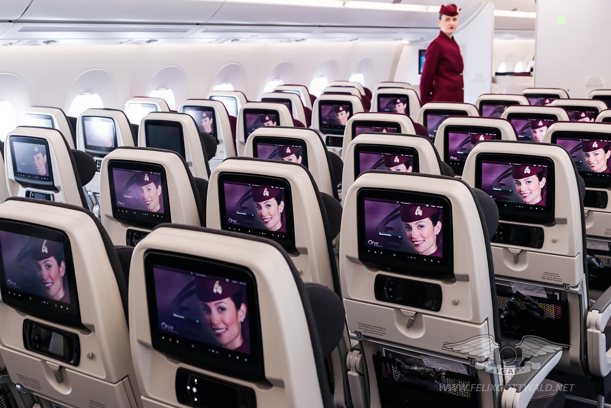 Qatar Airways Airbus A350-900 - Economy Class seat