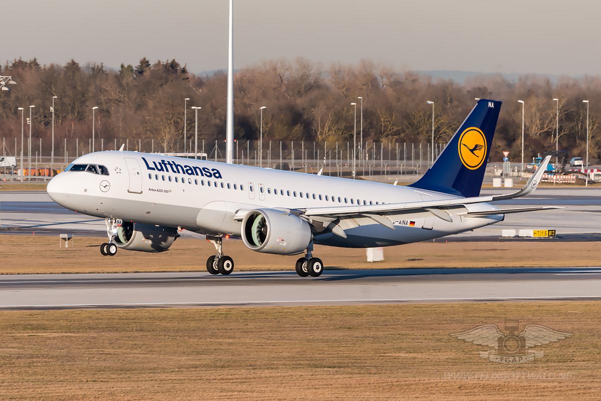 Lufthansa A320neo D-AINA MUC Munich Airport