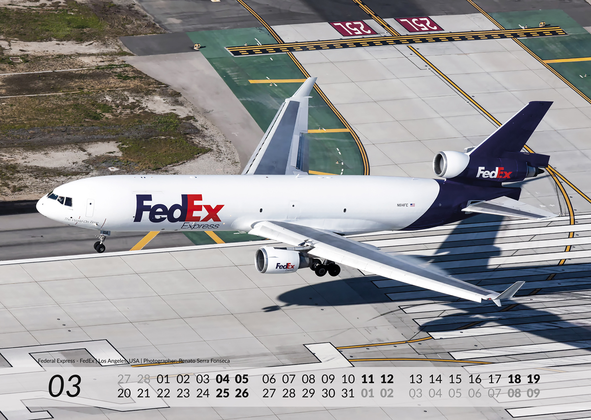 MD-11 Calendar 2017 March image