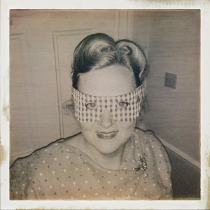 Masked crafter from felixstowe sewing school
