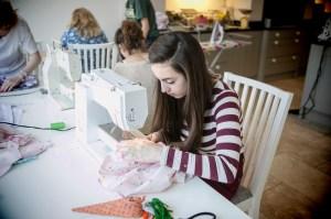 Pyjama sewing workshop 4