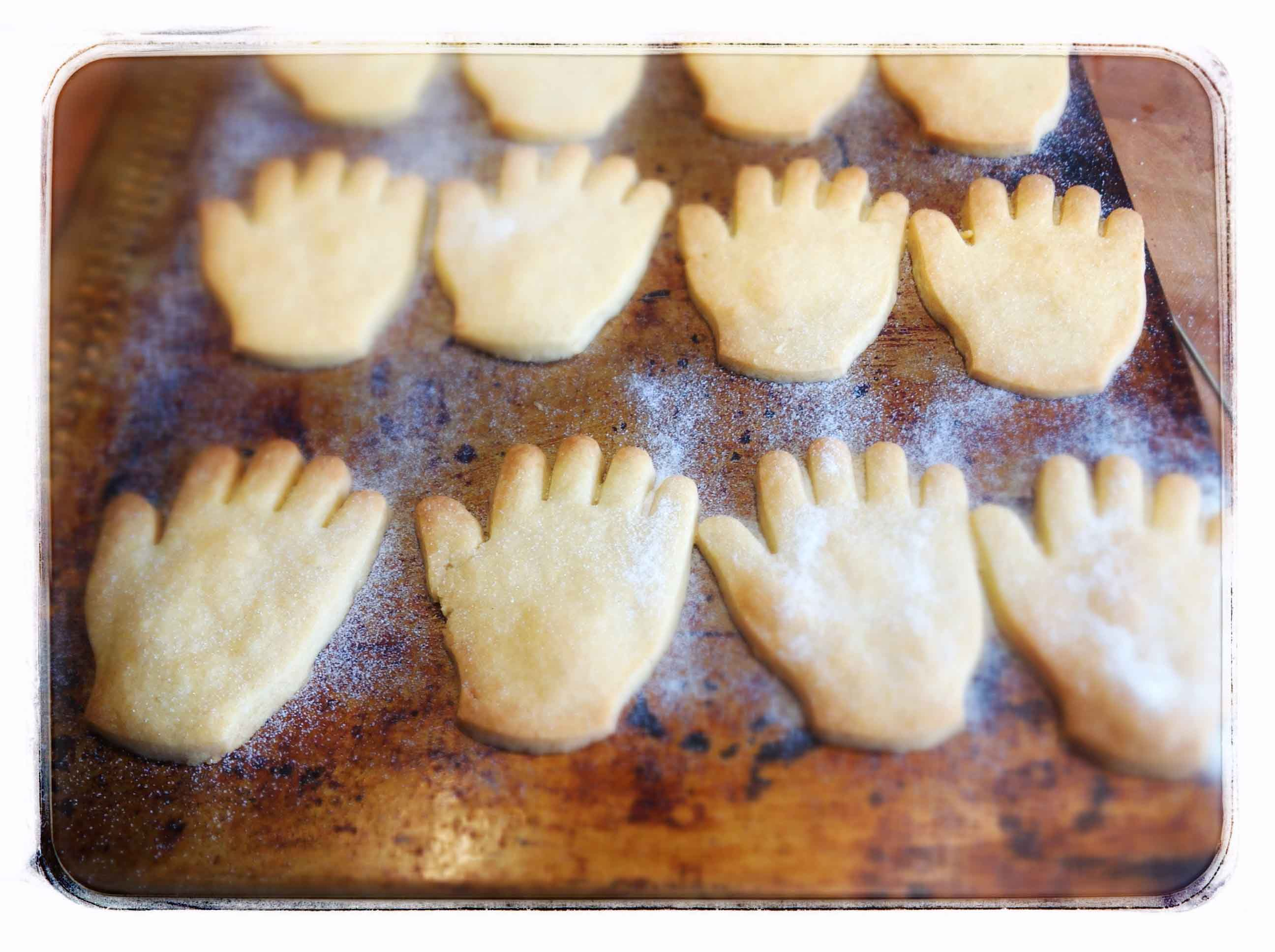 Many hands make light work biscuits