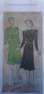 1940 Day dress