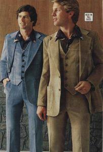 Two fine gentlemen in fine corduroy suits.