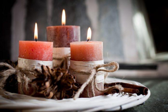 Decoração com velas perfumadas