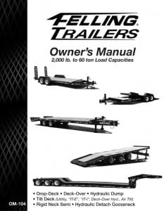 Operator's Manuals For Felling Trailers