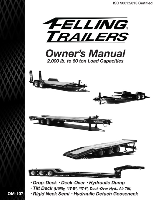 Owner's / Operator's Manuals For Felling Trailers