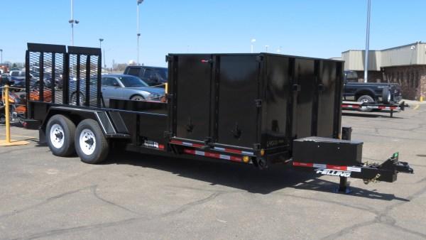 side dump landscape trailer