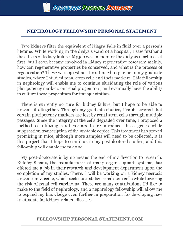 Writing an Endocrinology Fellowship Personal Statement  Fellowship Personal Statement
