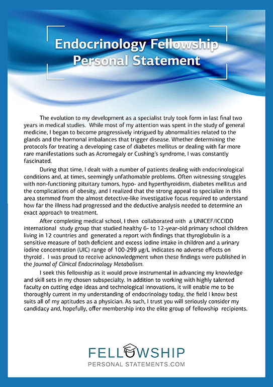 Endocrinology Fellowship Personal Statement